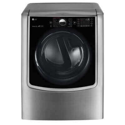 9.0 cu.ft. Mega Capacity TurboSteam Electric Dryer w/ On-Door Control Panel Product Image